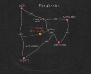 Plan d'accès à la boutique Dauphiné Informatique